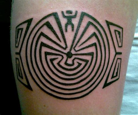 maze tattoo american in the maze maze of