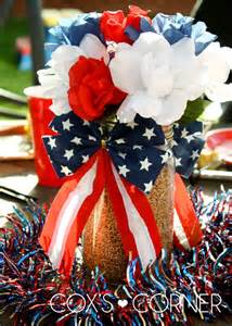 fourth of july decorations 53 cool 4th july centerpieces in national colors digsdigs