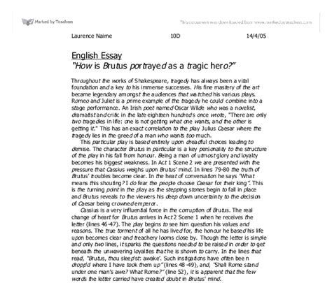 Julius Caesar Brutus Essay by Julius Caesar Brutus Tragic Essay Cardiacthesis X Fc2