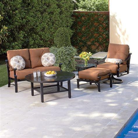 woodard outdoor furniture woodard bungalow cushion 5 patio set wd bungalow set1