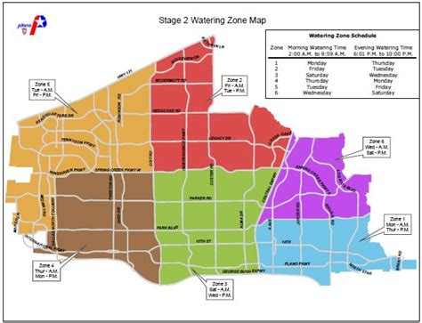 zip code map plano tx plano water zone map stage 2 plano homes land