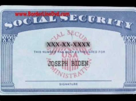 real social security card template borderline id segment