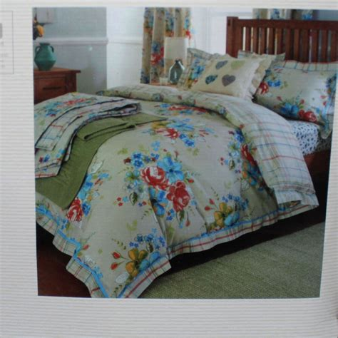 Duvet Covers Next by Next Green Blue Beige Bright Floral Print Bed Linen