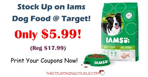 dog food coupons walmart stock up on iams dog food target only 5 99 reg 17 99