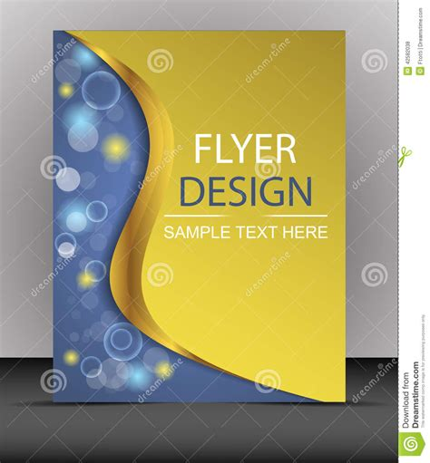 cover design business flyer template folder stock vector