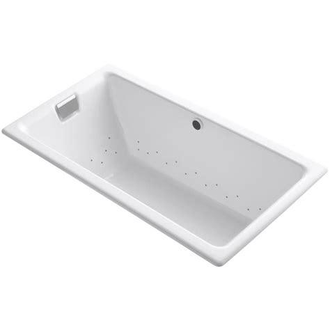 kohler tea for two kohler tea for two 5 5 ft air bath tub in white k 856 gbn 0 the home depot