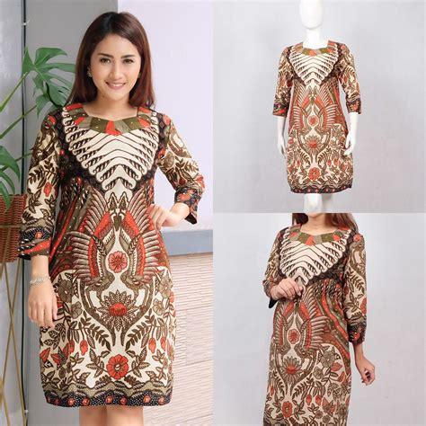 indira dress batik modern dress jumbo baju batik wanita
