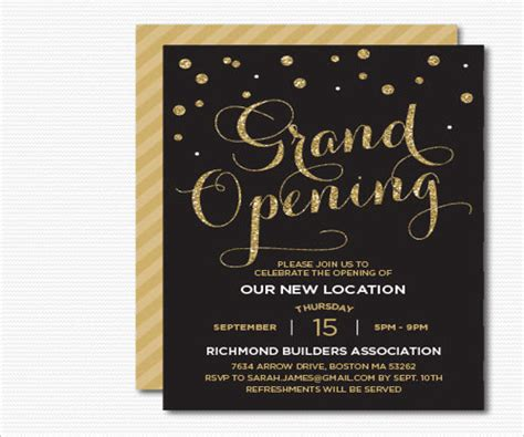 invitation card templates for opening ceremony 14 opening invitation templates psd ai free