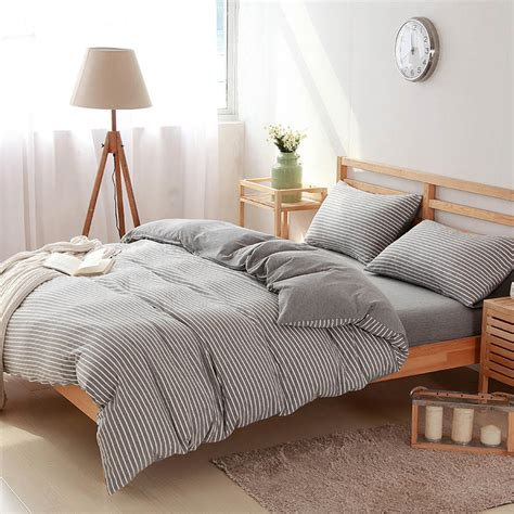 twin comforter sets for adults 4 pcs100 cotton white striped bedding sets luxury bed