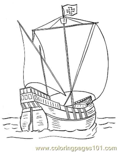 coloring pages of water transport coloring pages 013 pinta coloring page transport gt water