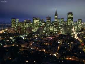California Lights Buildings City City Lights Of San Francisco California