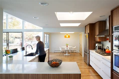 Open Floor Plan Homes With Loft by Hornstein Residence Midcentury Kitchen Denver By