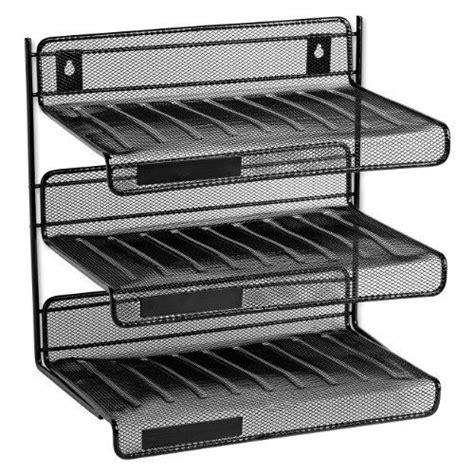 staples black wire mesh 3 tier desk shelf 3 tier desk office organizer mesh shelf black letter tray