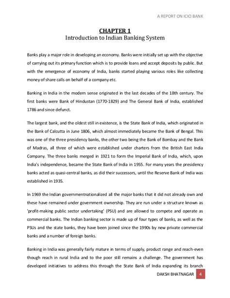 icici bank report a report on icici bank