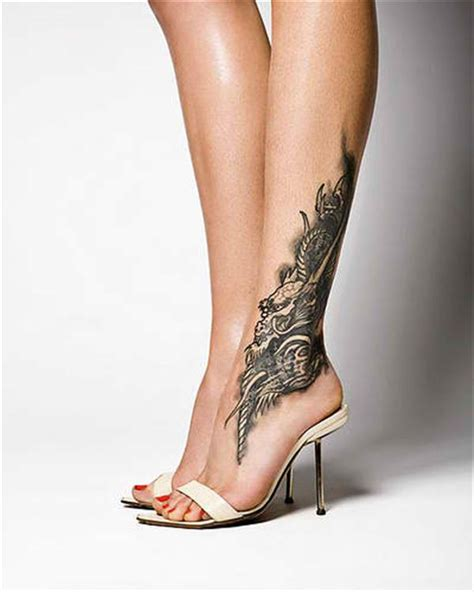 unique female tattoo designs ideas for unique in foot