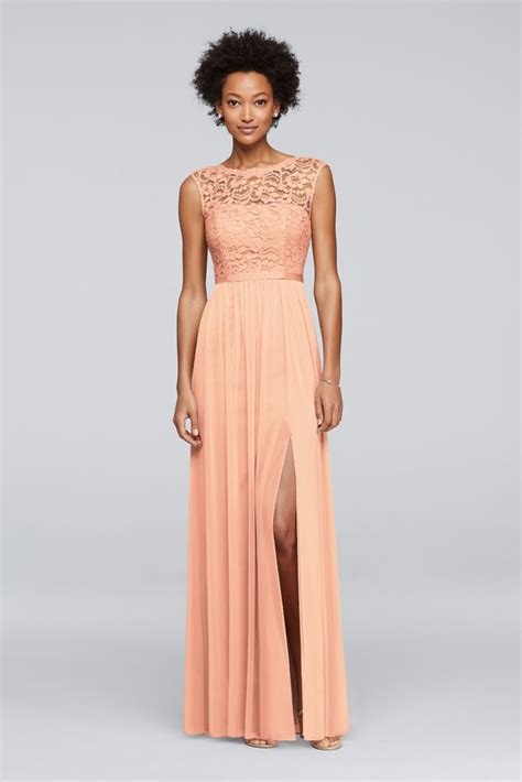 Bridesmaid Dress Sale David S Bridal - david s bridal bridesmaid dress with lace bodice