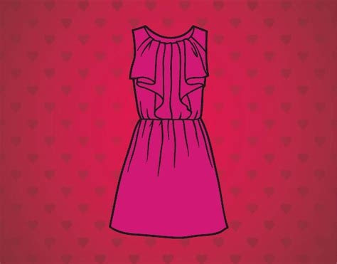 imagenes de vestidos faciles para dibujar dibujo de vestido de noche pintado por en dibujos net el