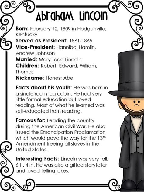 abraham lincoln biography questions presidents day early finishers writing centers and