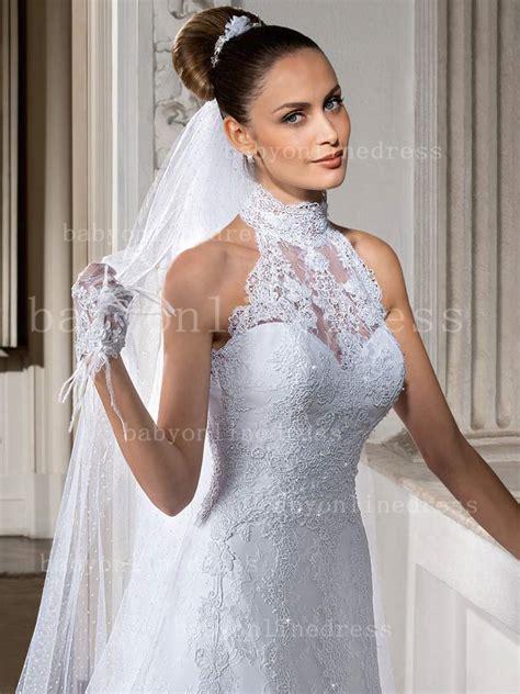 Lace Vintage Summer A Line Wedding Dresses 2016 High