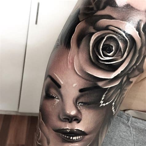 lady face tattoo designs popular arm tattoos designs