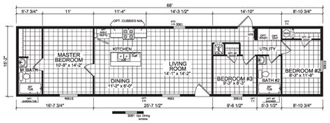 liberty manufactured homes floor plans liberty 16 x 66 1001 sqft mobile home factory expo home