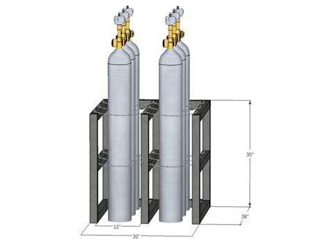 Cylinder Racks by Gas Cylinder Rack Barricade 6 Tanks 2x3 Br2x3fs