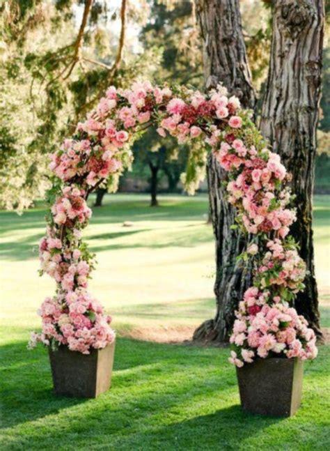 Backyard Wedding Flowers 43 Outdoor Summer Wedding Arches Happywedd