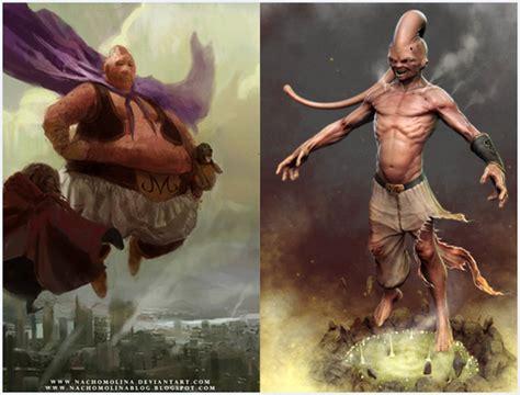 imagenes realistas dragon ball vil 245 es de dragon ball z em ilustra 231 245 es realistas geekness