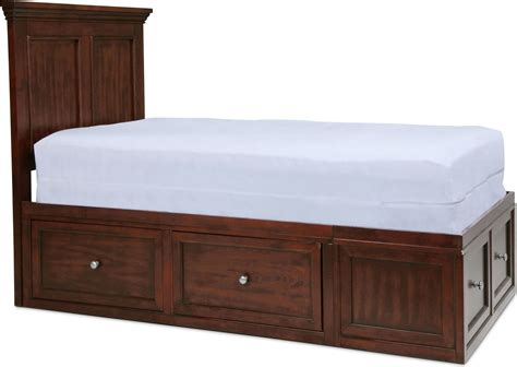 full bed furniture ellsworth full bed with 4 underbed drawers mahogany