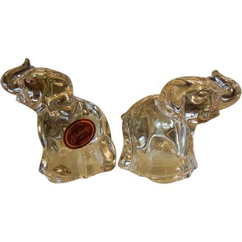 fine crystal vintage gorham fine crystal elephant salt pepper shaker