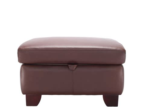 Leather Storage Stool Gemma Leather Storage Footstool By G Plan Upholstery
