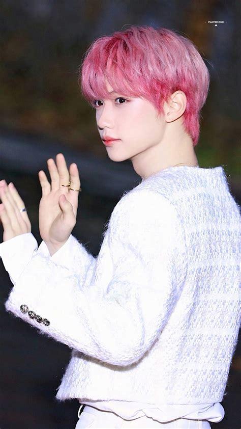felix skz stray kids pink hair cabelo rosa   felix
