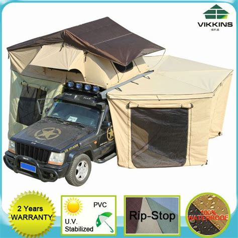 roof awning 4x4 4x4 rv car roof top tent with fox wing awning 300 600