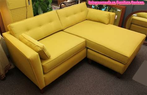 Yellow Sectional Sofa Modern Yellow Apartment Size Sectional Sofa