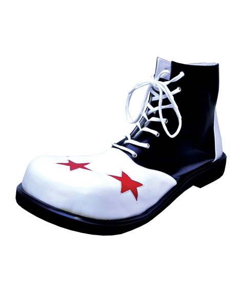 wing tip black white clown shoes