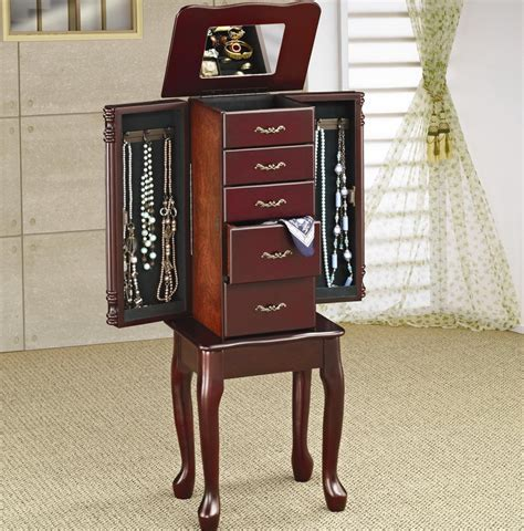 jewellery armoires canada jewelry mirror armoire canada home design ideas