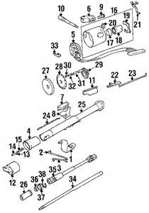 Jeep Yj Steering Column Exploded View For The 1995 Jeep Yj Wrangler Non Tilt