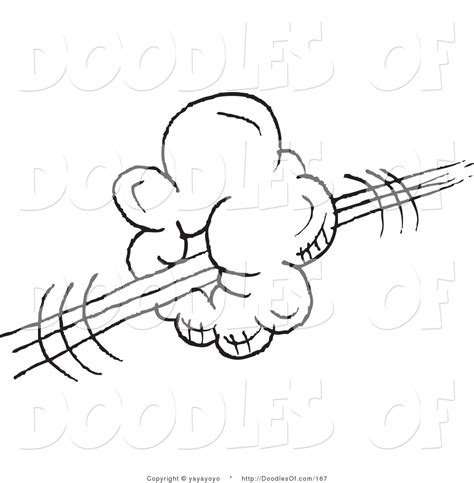 doodle speed drawing software vector clipart of a coloring page of a swoosh cloud doodle