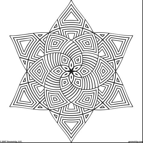 cool geometric coloring pages cool geometric design coloring pages to print free