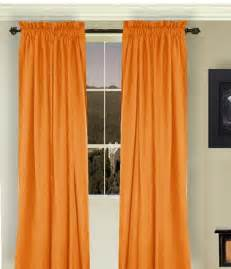 colored curtains orange curtains
