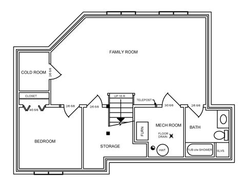 sle basement floor plans floor plan basement 1300 sq ft