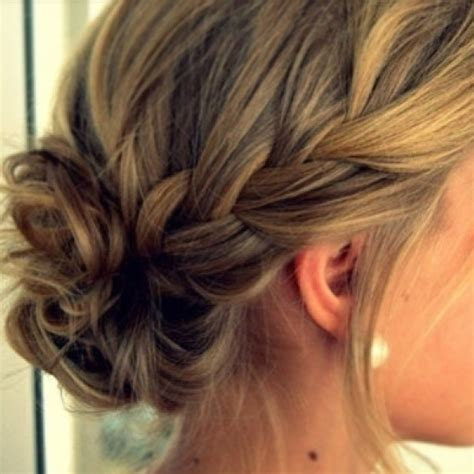 formal hairstyles messy bun with braid pinterest discover and save creative ideas