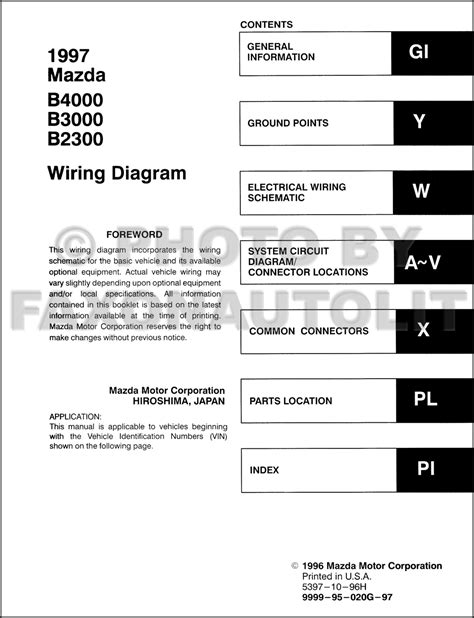 1997 mazda truck b2300 wiring diagram wiring diagram