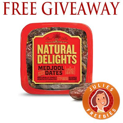 Enter Free Events Monthly Giveaway by Free Medjool Dates Giveaway Julie S Freebies