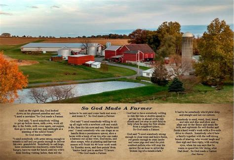 So God Made A Farmer Wall