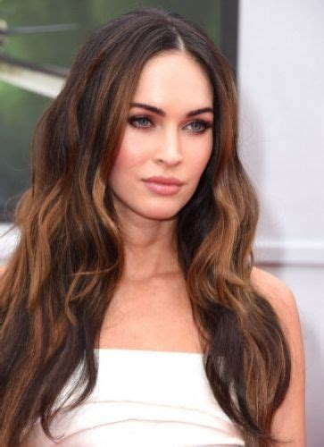 hairstyles for dark brown long hair 14 foxy megan fox hair color ideas for beautiful brunette