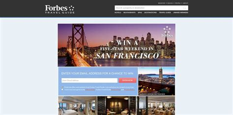 San Francisco Sweepstakes - win a five star weekend in san francisco promotion