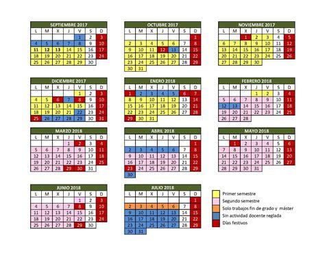 Calendario Academico Calendario Acad 233 Mico Curso 2017 18 Universidad De Burgos