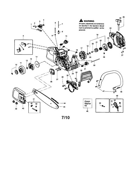 mcculloch parts diagram size