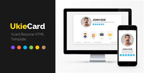 divergent personal vcard resume html template free ukiecard personal vcard resume html template themeforest